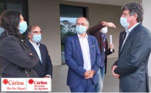 Visita do Executivo Camarário de Ponta Delgada e Junta de Freguesia de Santa Clara à Cáritas de S. Miguel 2